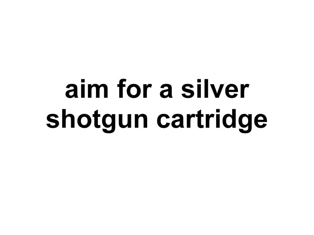 aim for a silver shotgun cartridge