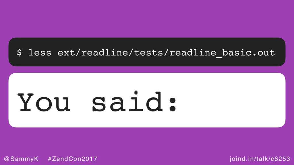 joind.in/talk/c6253 @SammyK #ZendCon2017 $ less...