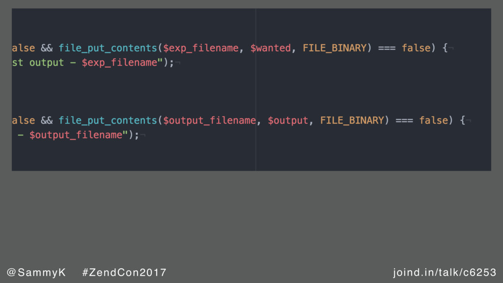 joind.in/talk/c6253 @SammyK #ZendCon2017