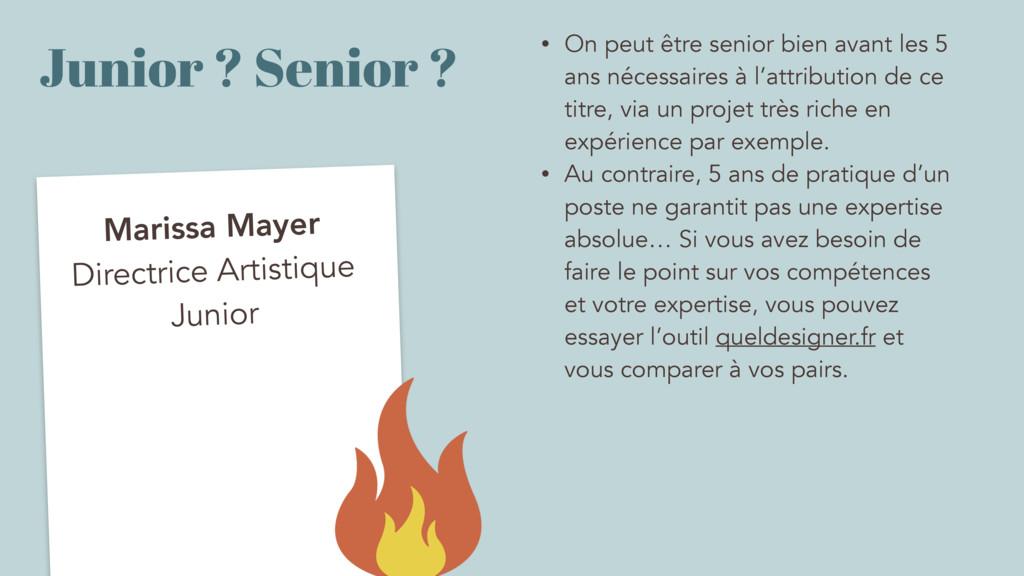 Junior ? Senior ? Marissa Mayer Directrice Arti...