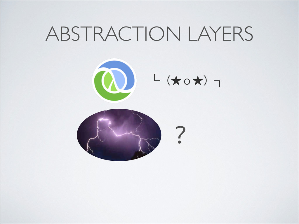 ABSTRACTION LAYERS └ʢ˒̾˒ʣ┐ ?