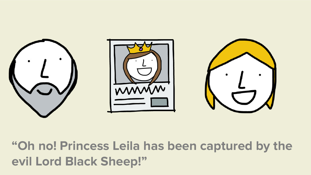 """""""Oh no! Princess Leila has been captured by the..."""