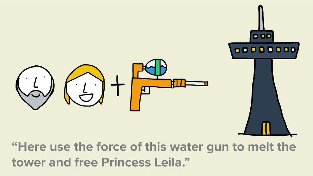 """""""Here use the force of this water gun to melt t..."""