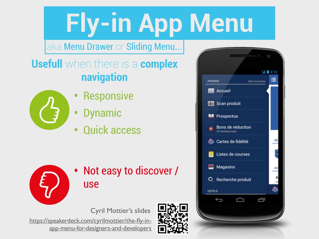 Fly-in App Menu • Responsive • Dynamic • Quick ...
