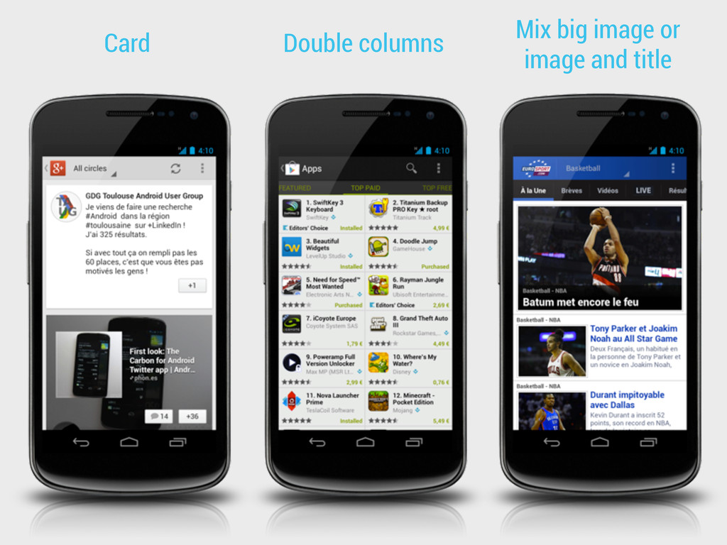 Card Double columns Mix big image or image and ...