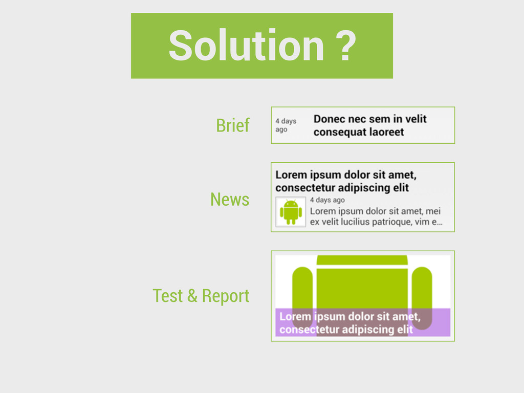 Brief News Test & Report Solution ?