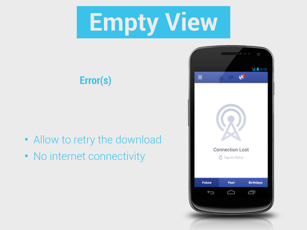 Error(s) Empty View • Allow to retry the downlo...
