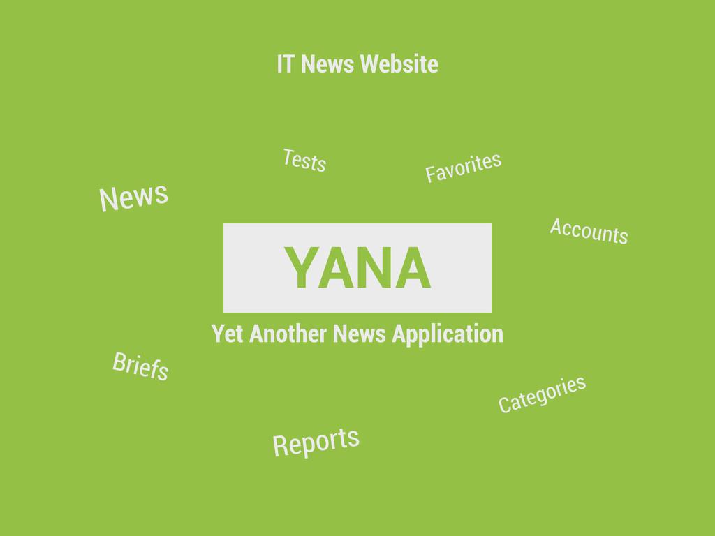 YANA IT News Website News Briefs Tests Reports ...