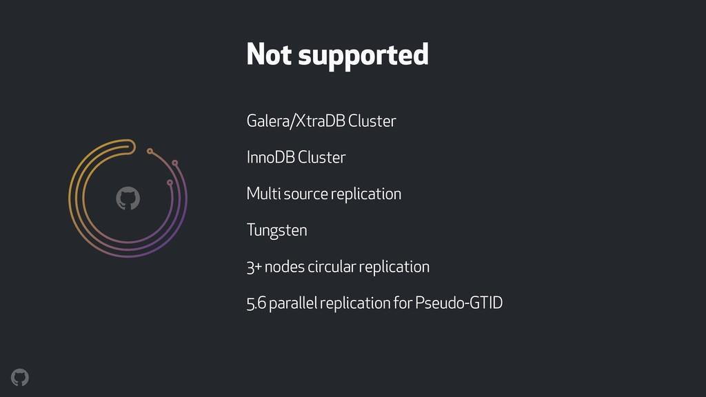 Galera/XtraDB Cluster InnoDB Cluster Multi sour...
