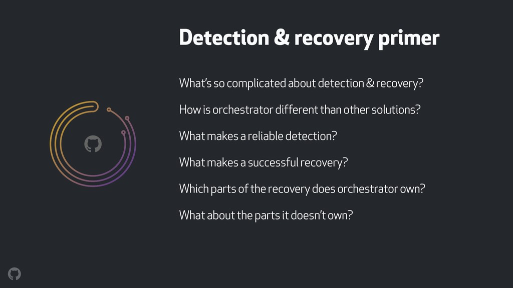 Detection & recovery primer What's so complicat...