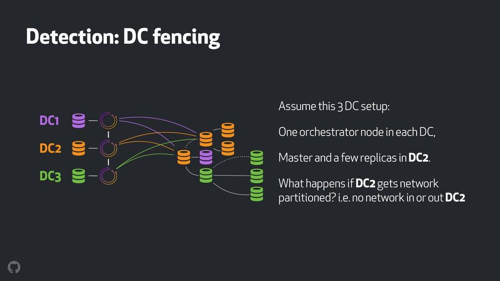 Detection: DC fencing Assume this 3 DC setup: O...