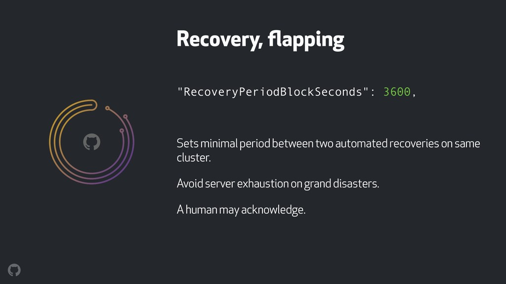 """RecoveryPeriodBlockSeconds"": 3600, Sets minima..."