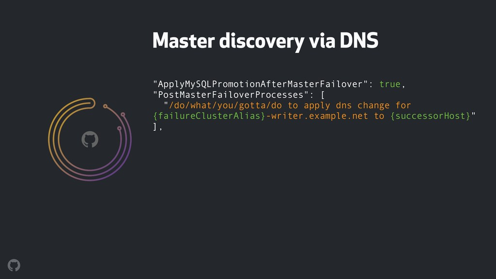 "Master discovery via DNS ""ApplyMySQLPromotionAf..."