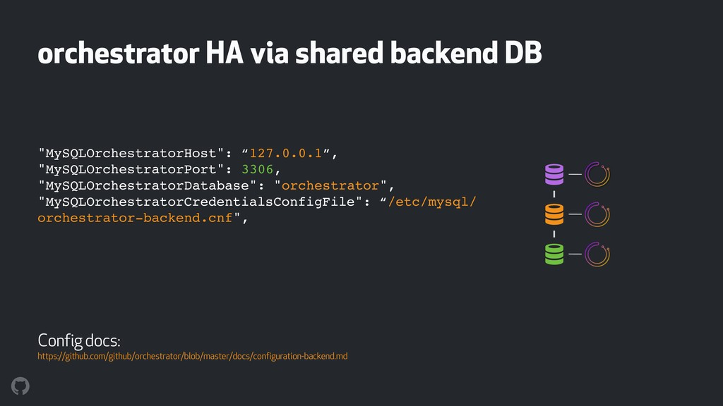 "orchestrator HA via shared backend DB ! ! ! ""My..."
