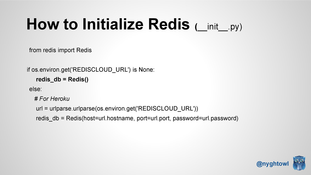 How to Initialize Redis (__init__.py) from redi...