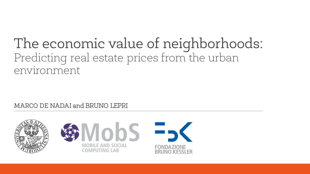 The economic value of neighborhoods: Predicting...