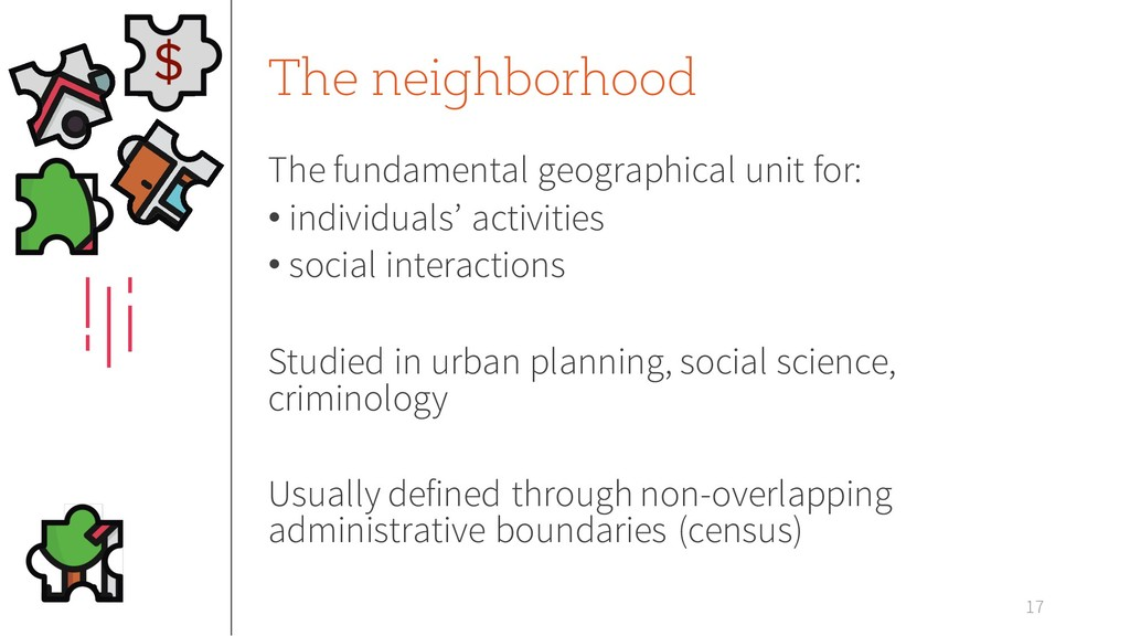 The neighborhood The fundamental geographical u...