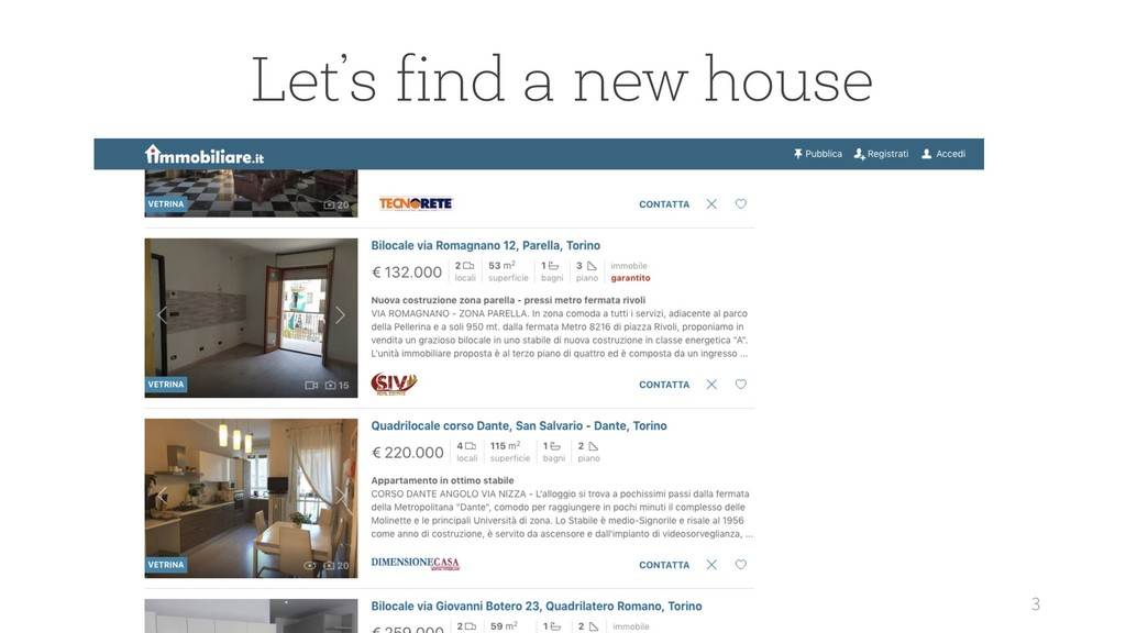 3 Let's find a new house