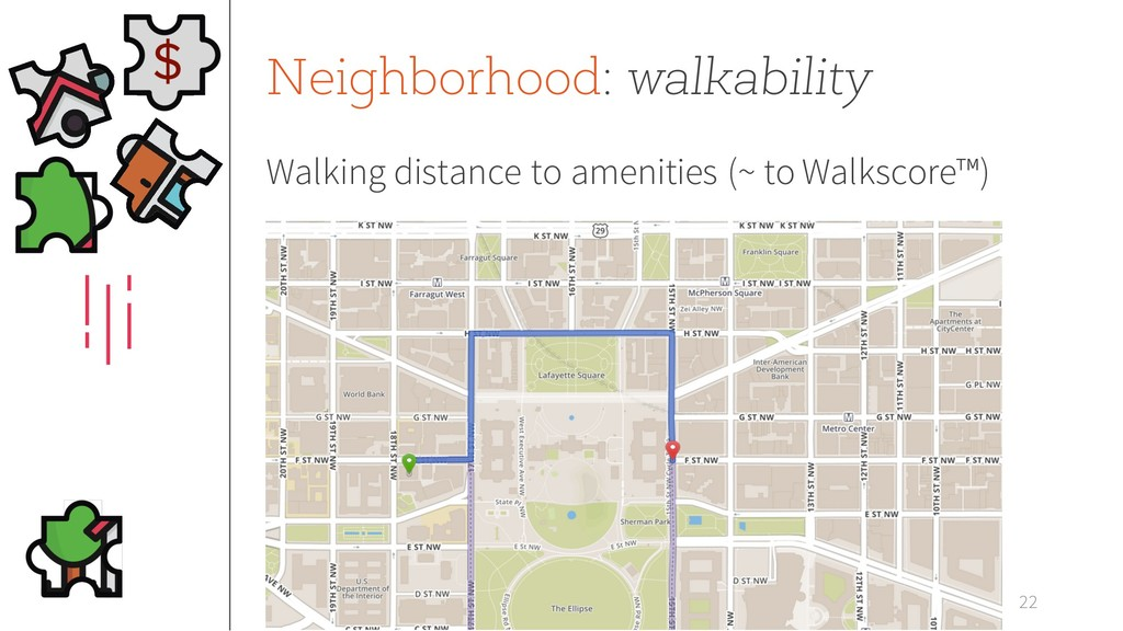 Neighborhood: walkability Walking distance to a...