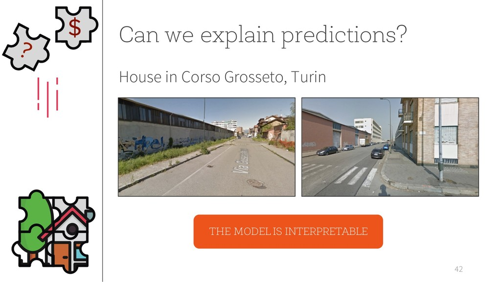 42 Can we explain predictions? House in Corso G...