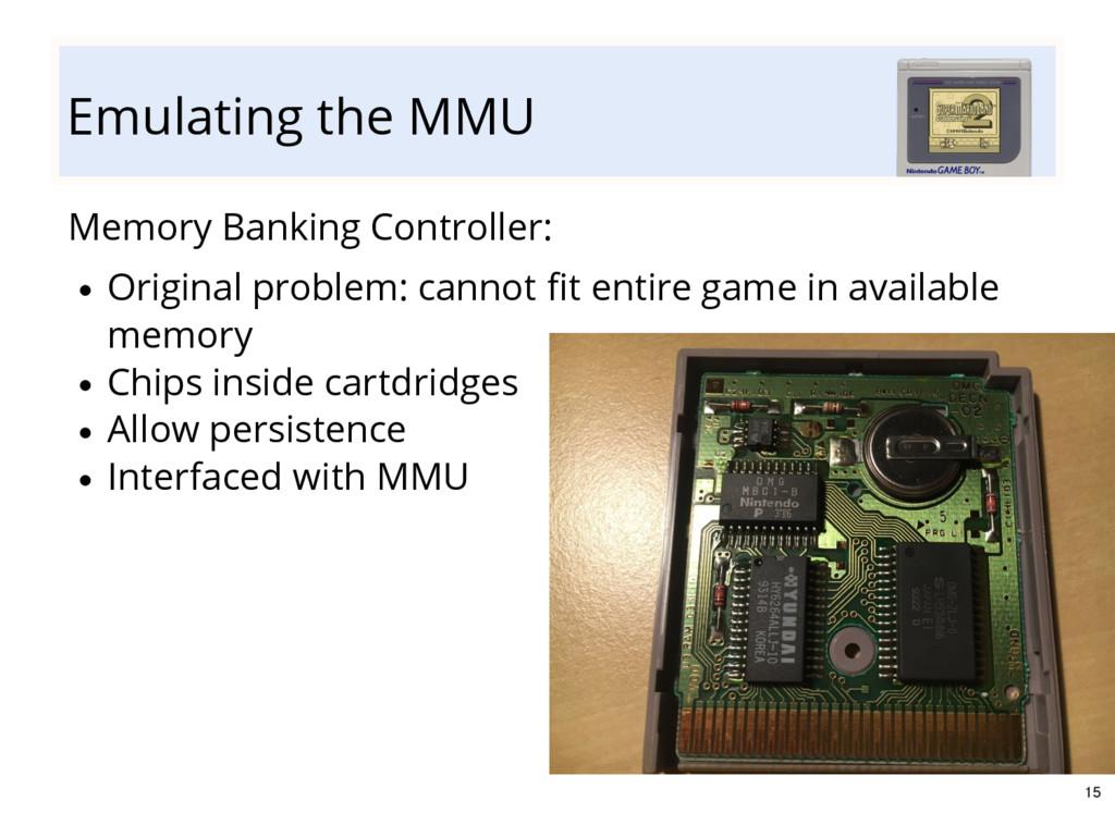 Emulating the MMU Memory Banking Controller: Or...
