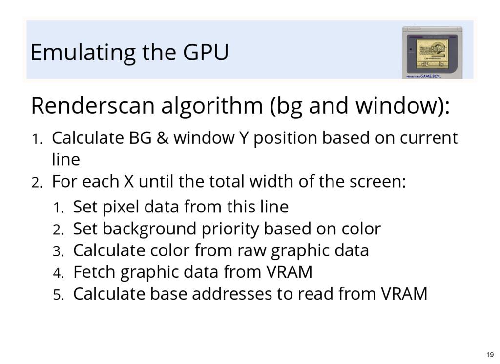 Emulating the GPU Renderscan algorithm (bg and ...