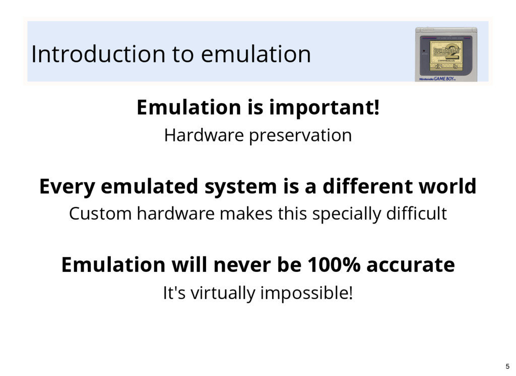Introduction to emulation Emulation is importan...