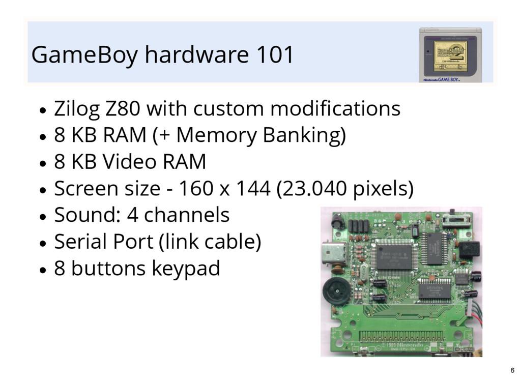 GameBoy hardware 101 Zilog Z80 with custom modi...