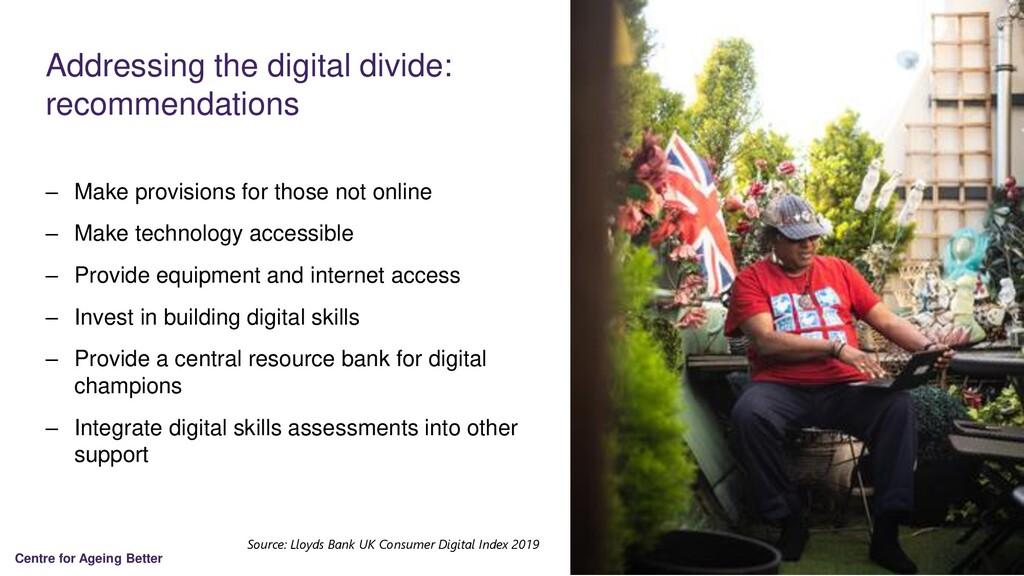Centre for Ageing Better Addressing the digital...