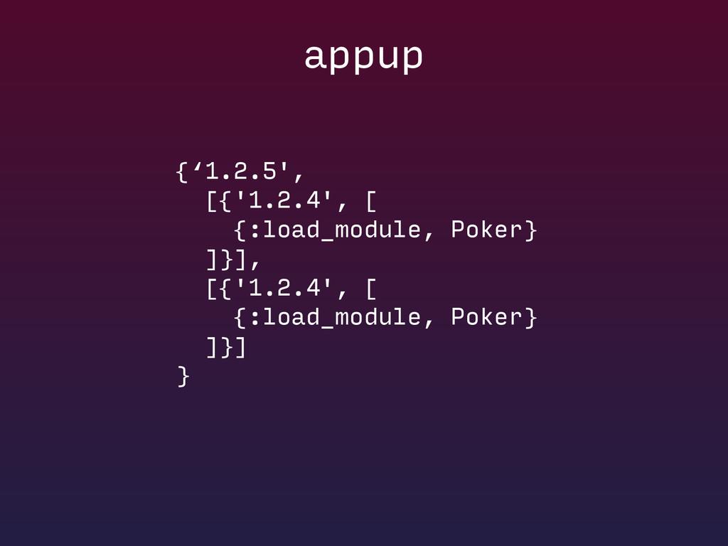 {'1.2.5', [{'1.2.4', [ {:load_module, Poker}...