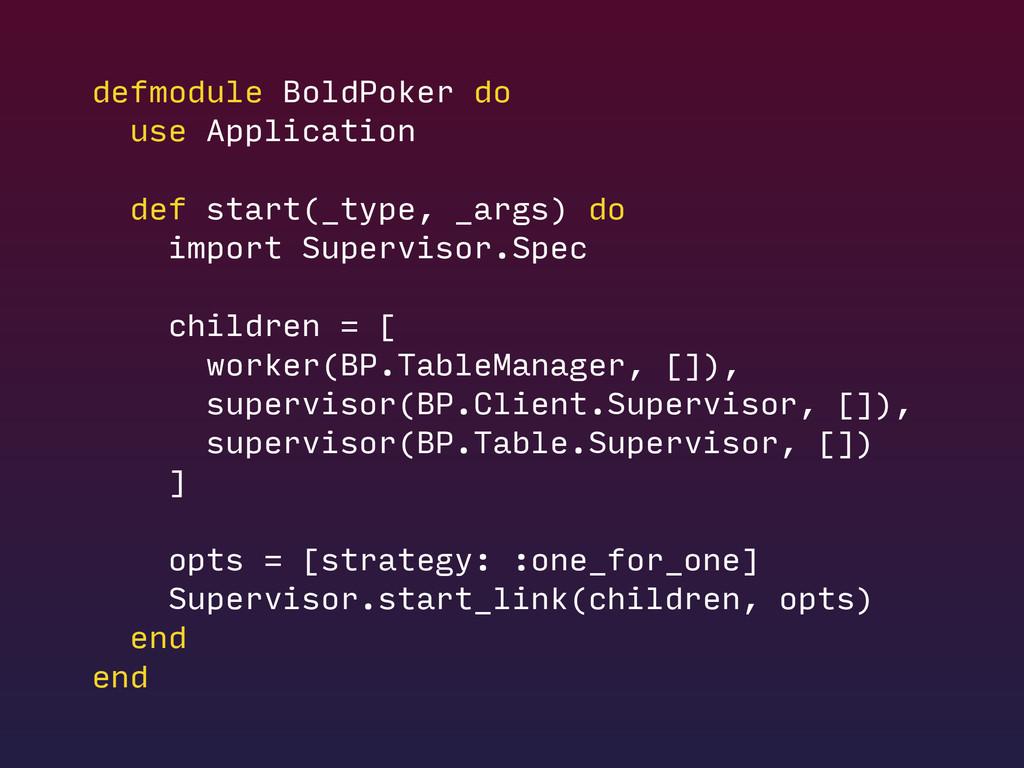 defmodule BoldPoker do use Application def star...
