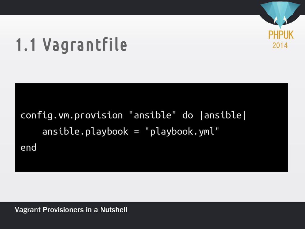 "1.1 Vagrantfile config.vm.provision ""ansible"" d..."
