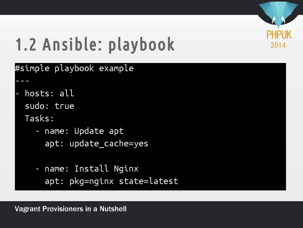 1.2 Ansible: playbook #simple playbook example ...