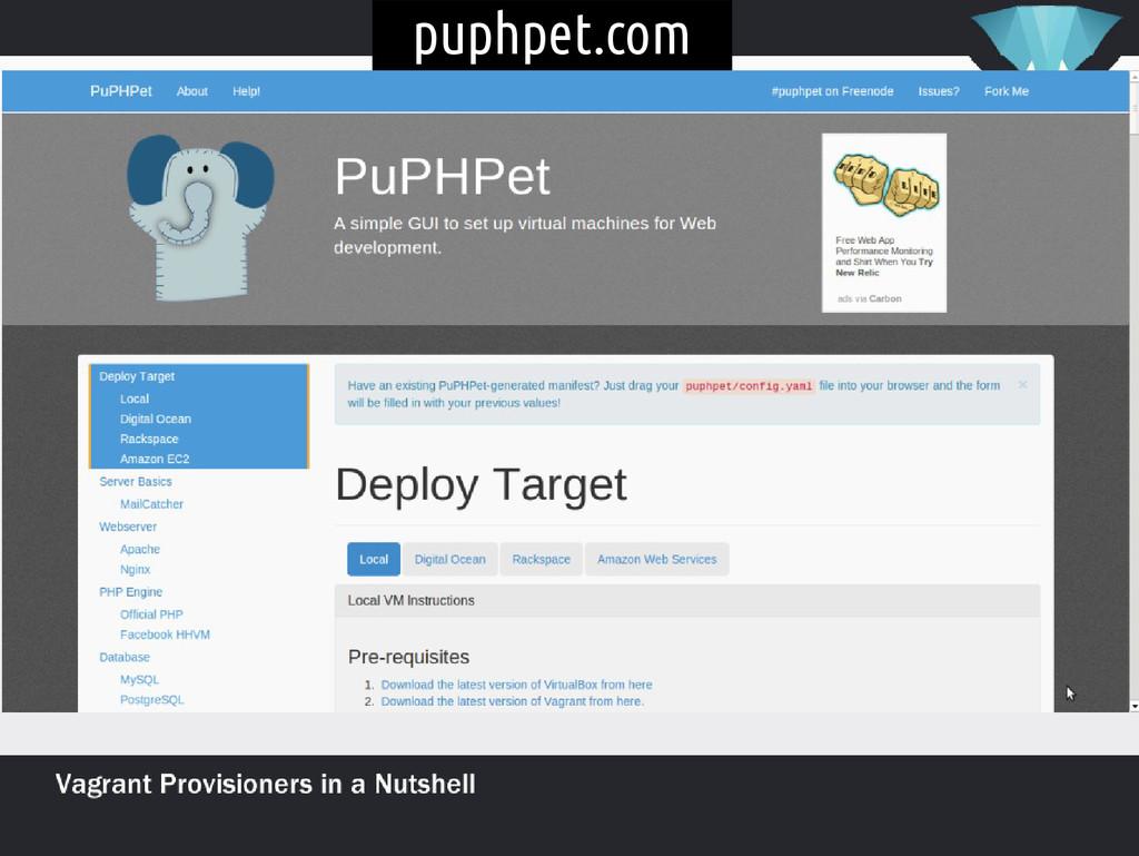 puphpet.com