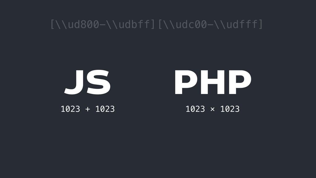JS 1023 + 1023 PHP 1023 × 1023 [\\ud800-\\udbff...