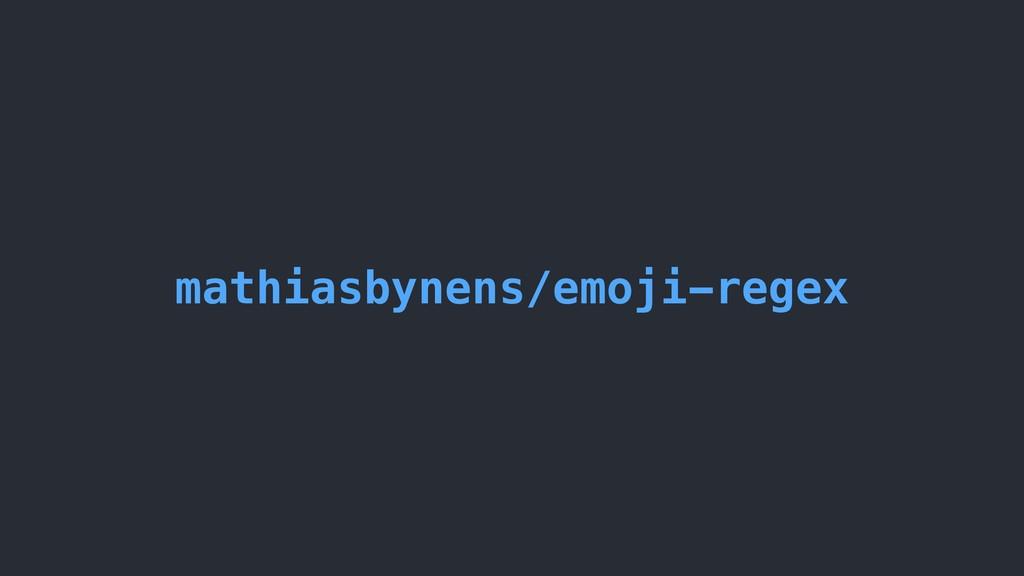 mathiasbynens/emoji-regex