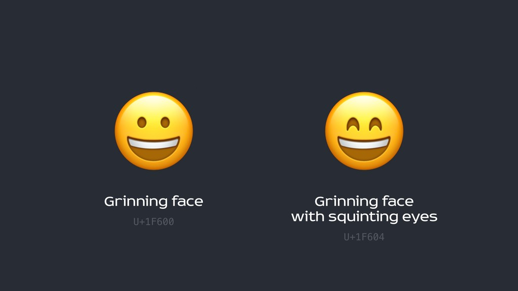 Grinning face U+1F600  Grinning face  with sq...