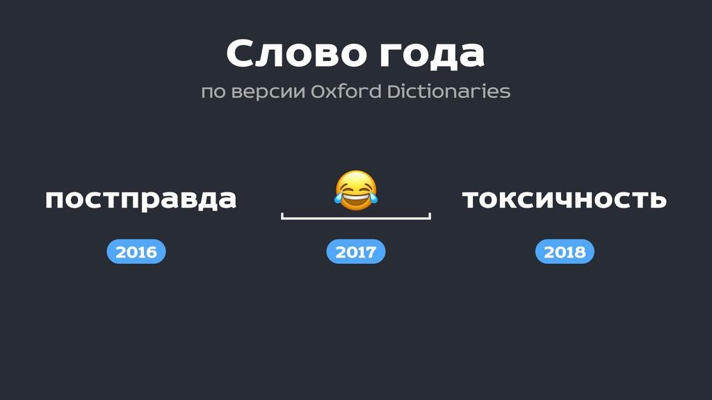 постправда токсичность  2016 2017 2018 Слово го...
