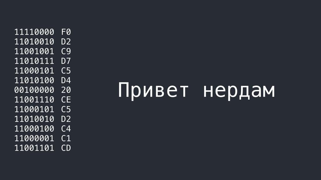 11110000 11010010 11001001 11010111 11000101 11...