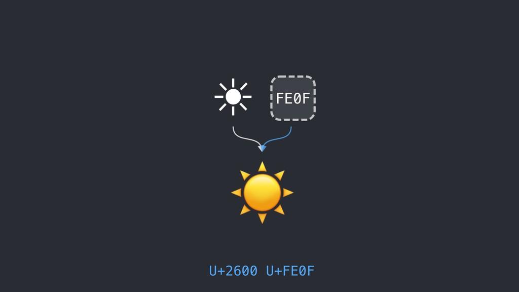 U+2600 U+FE0F