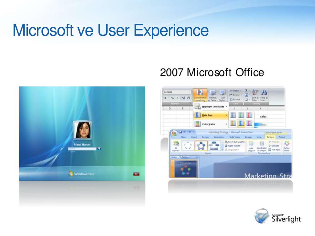 Windows Vista Microsoft ve User Experience 2007...