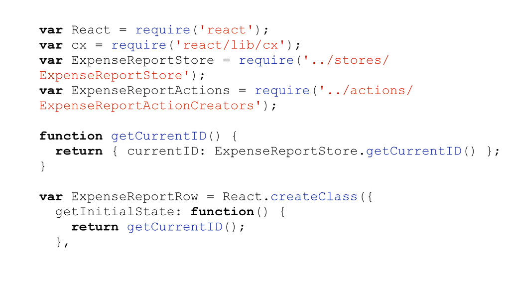 var React = require('react'); var cx = require(...