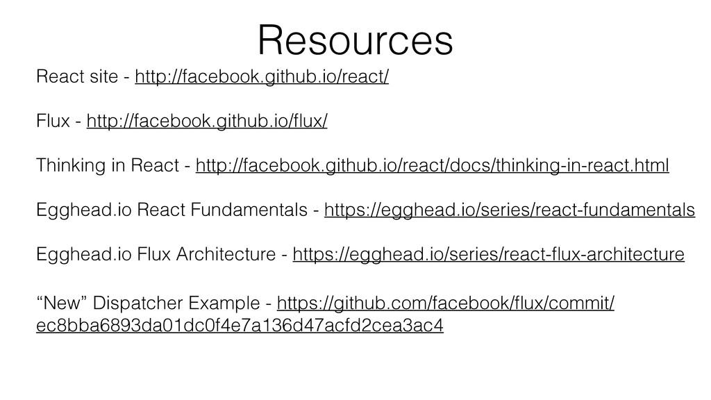 React site - http://facebook.github.io/react/ F...