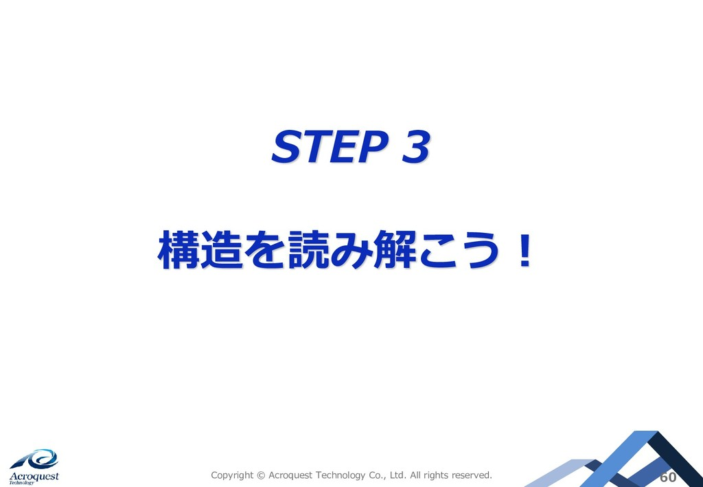 STEP 3 構造を読み解こう! Copyright © Acroquest Technolo...