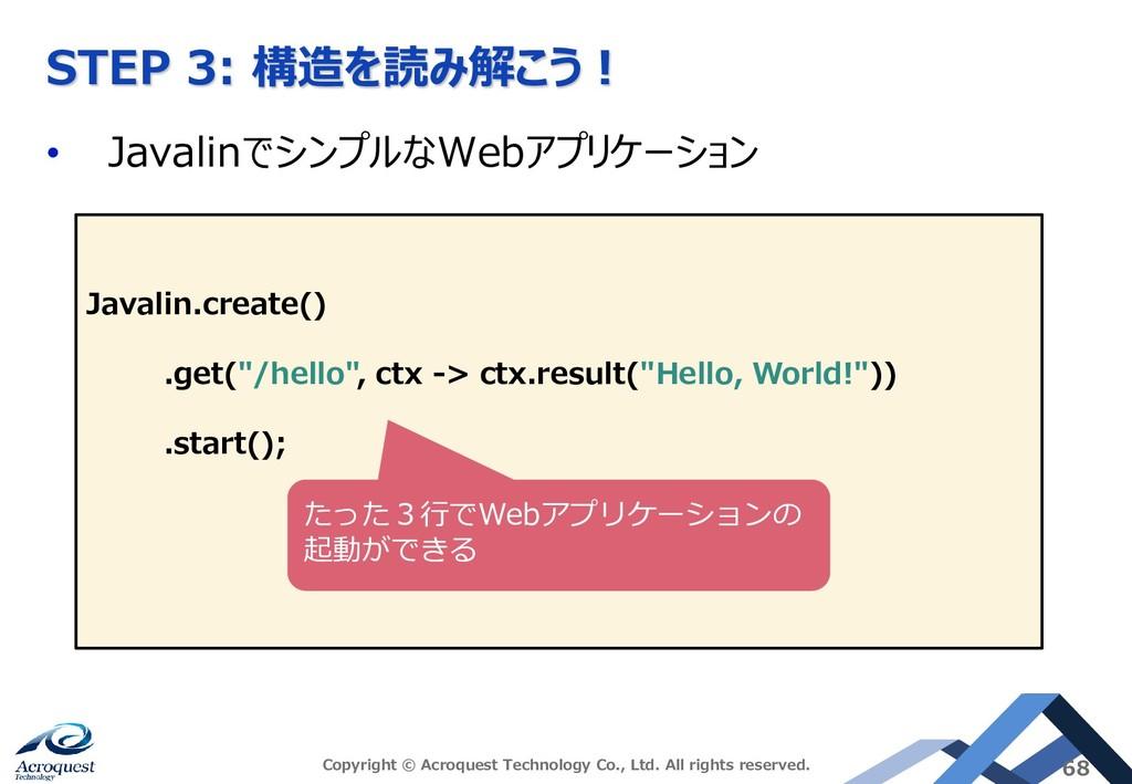 STEP 3: 構造を読み解こう! • JavalinでシンプルなWebアプリケーション Co...