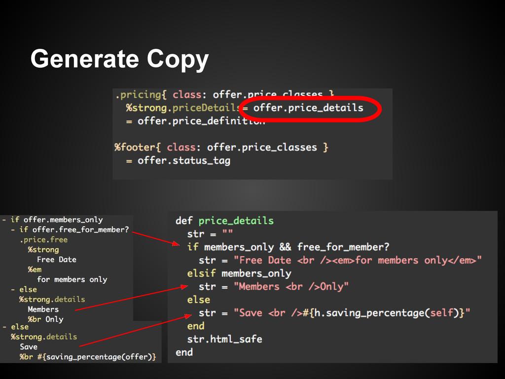 Generate Copy