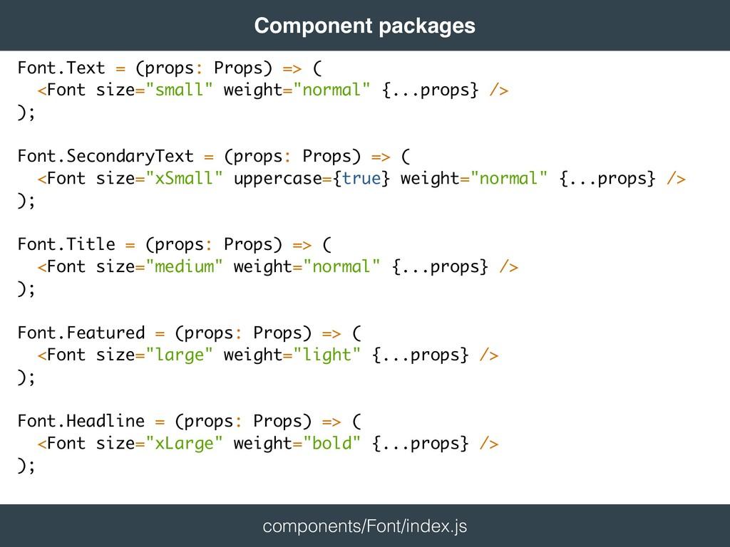 return <Component className={classes} {...props...