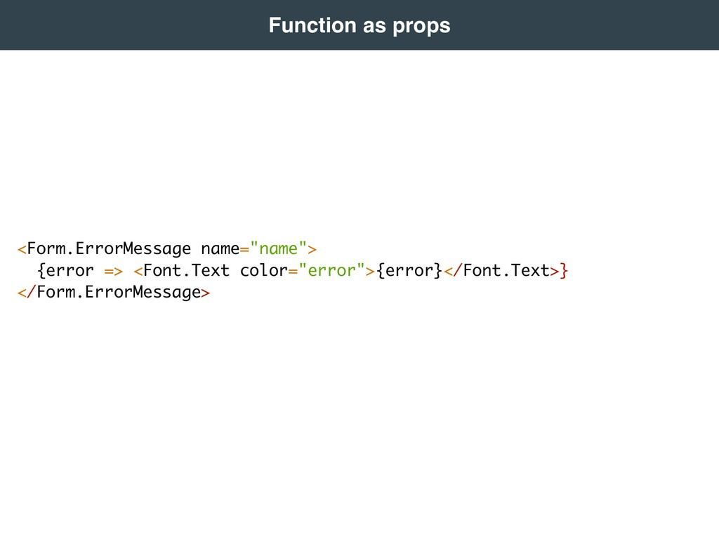Function as props