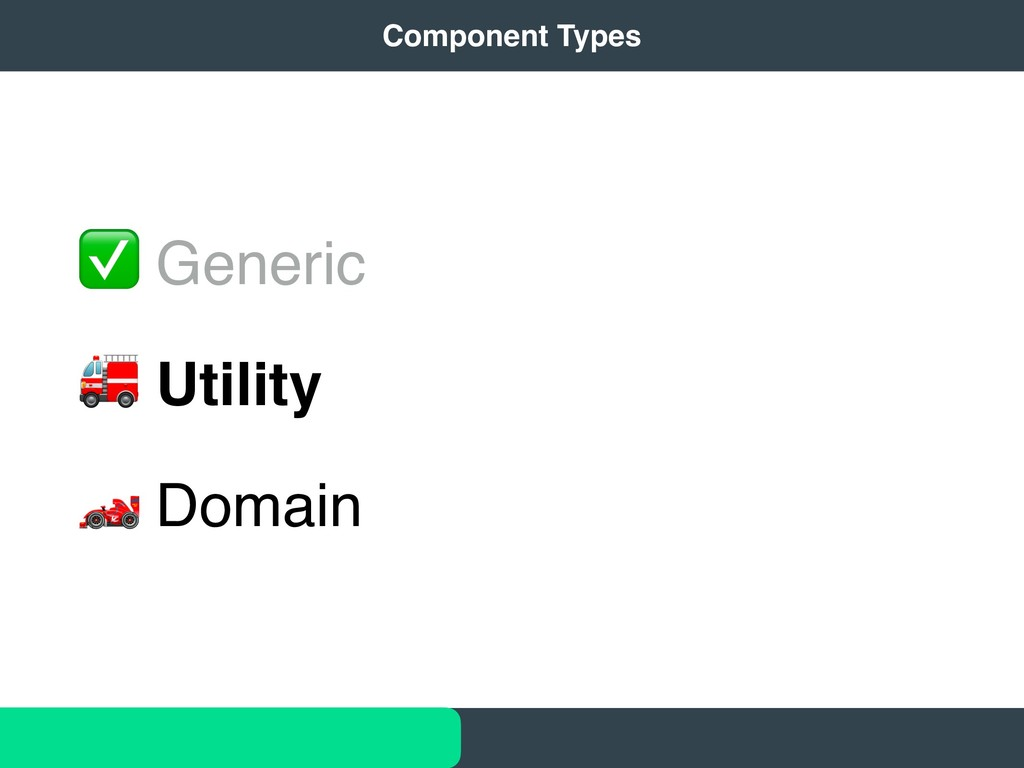 "✅ Generic "" Utility # Domain 