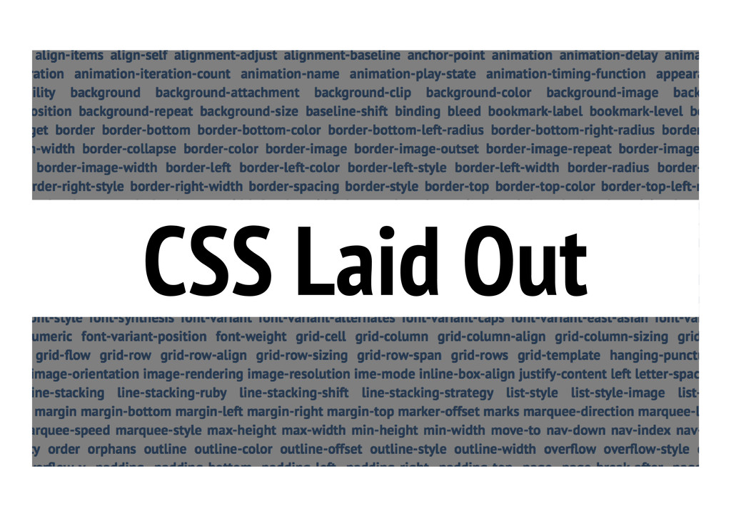 CSS Laid Out